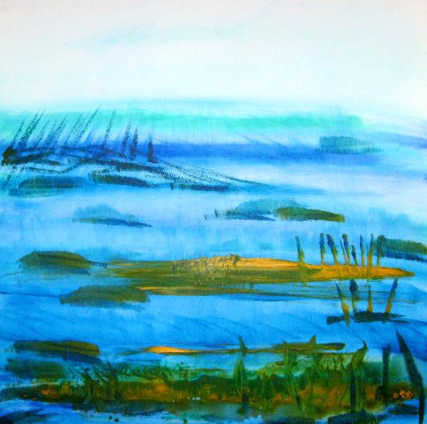 Vor dem Meer / 60 x 60 cm Acryl – 350 €