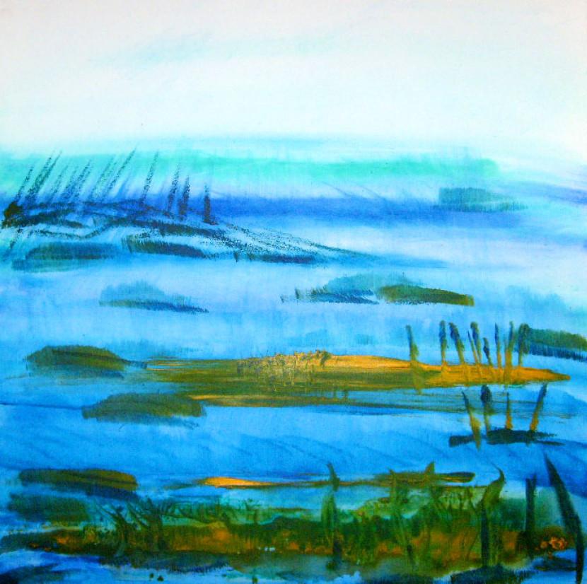 Vor dem Meer – 60 x 60 cm Acryl 350 €