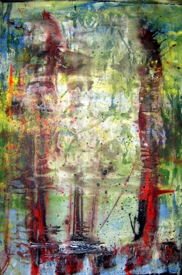 Im Himmel – 40 x 60 cm Acryl – 260 €